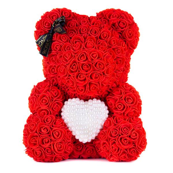 40cm-medved-z-ruzi-cerveny-s-perlickovym-srdcom